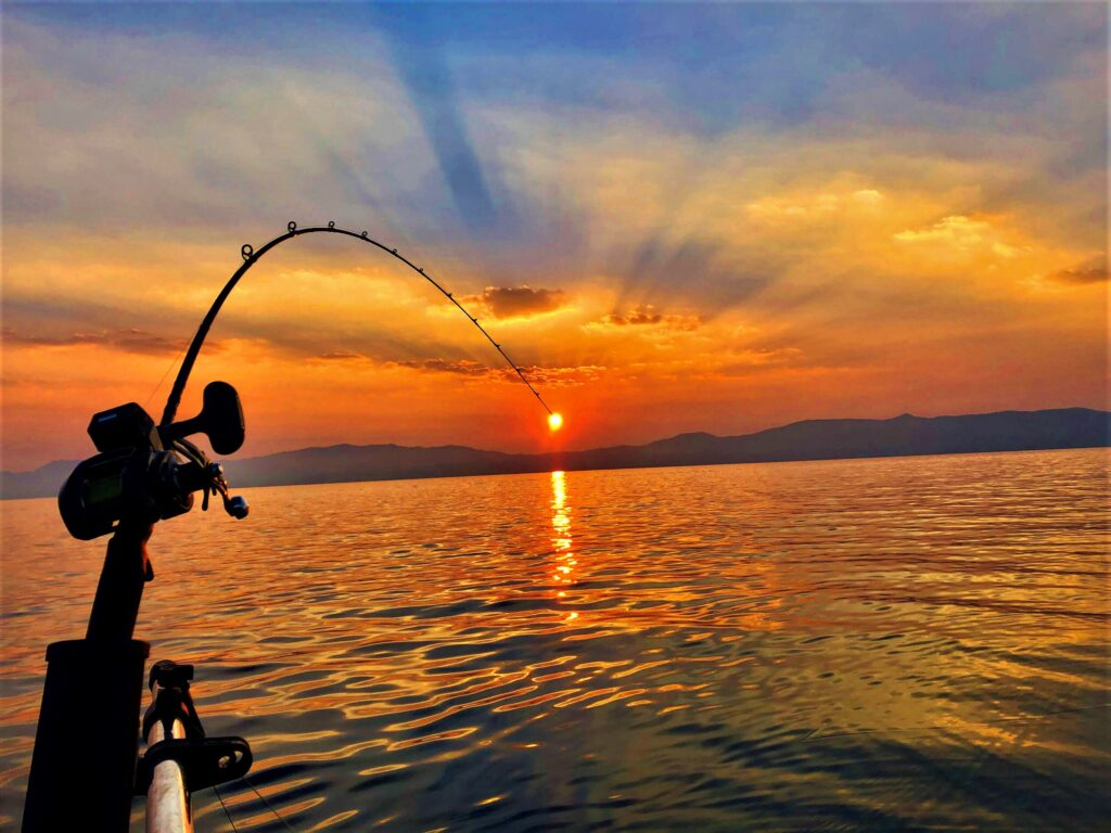 And a hook rod sinker up to fishing set How to